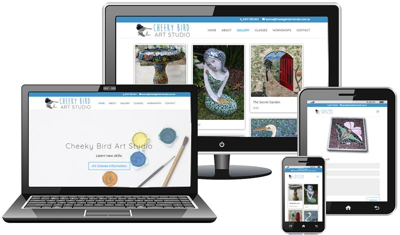 Cheeky Bird Art Studio Website by Somers Design