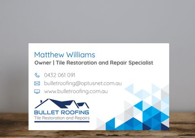 Bullet Roofing – Branding and Cards
