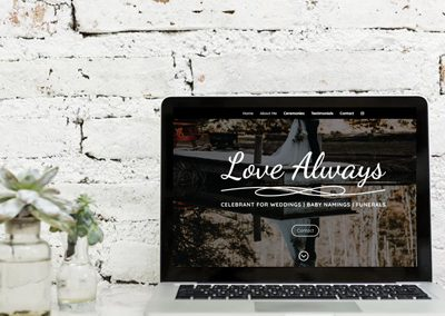 Love Always Celebrant – Branding & Website